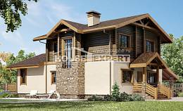 170-004-R Two Story House Plans and mansard with garage, the budget Home Plans