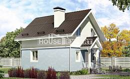 095-002-R Two Story House Plans and mansard, economical Blueprints