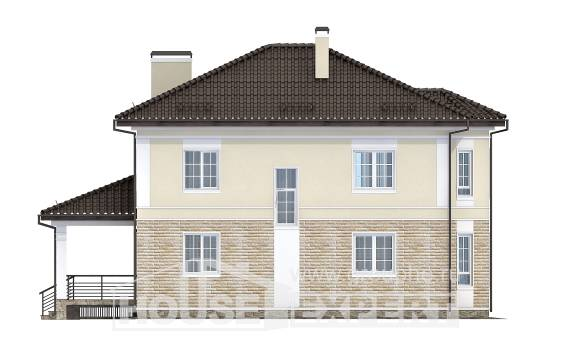 220-007-R Two Story House Plans and garage, average Cottages Plans