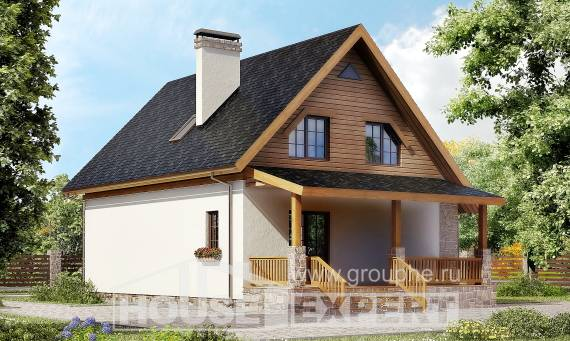 140-001-L Two Story House Plans with mansard, modest Custom Home