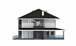 245-002-R Two Story House Plans with garage, classic Building Plan