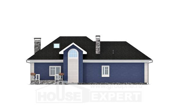 180-010-L Two Story House Plans and mansard with garage, a simple Timber Frame Houses Plans