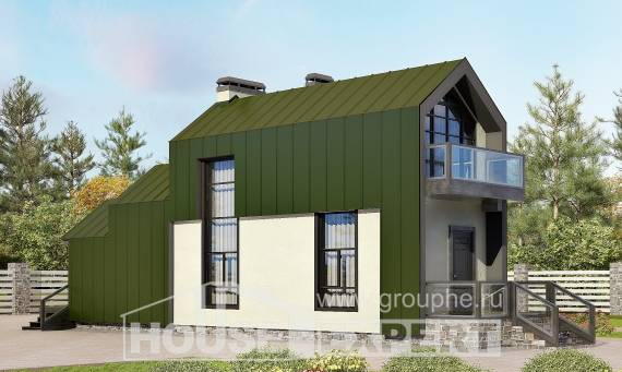 060-006-L Two Story House Plans with mansard, a simple Planning And Design