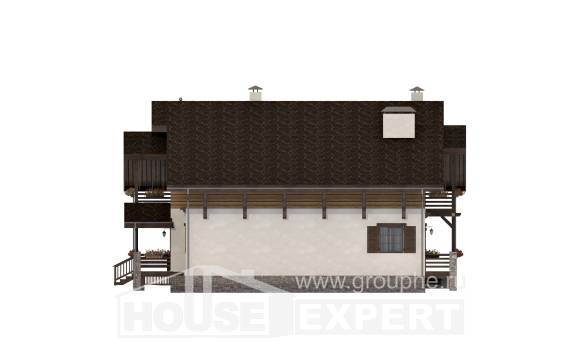 260-001-R Two Story House Plans and mansard, spacious Plan Online