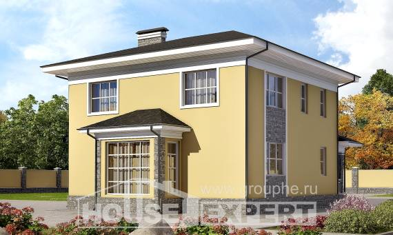 155-011-L Two Story House Plans, modest Floor Plan