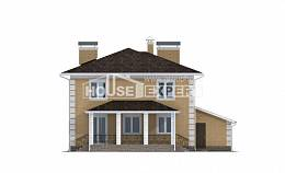 220-006-L Two Story House Plans with garage in back, beautiful Construction Plans