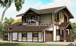 190-004-R Two Story House Plans with mansard roof with garage, average Design House
