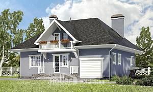 200-001-R Two Story House Plans with mansard roof with garage under, average Plan Online