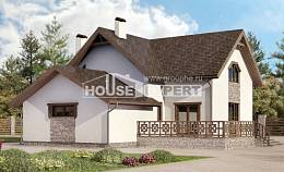 180-013-R Two Story House Plans and mansard with garage in back, beautiful Ranch