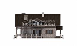 250-003-R Two Story House Plans with mansard roof, modern Design House