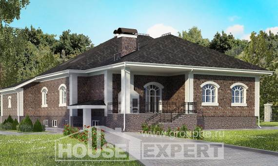 490-001-R Three Story House Plans with mansard roof with garage, modern Cottages Plans