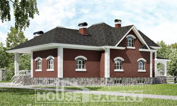 600-001-R Three Story House Plans with mansard roof and garage, beautiful Home Blueprints