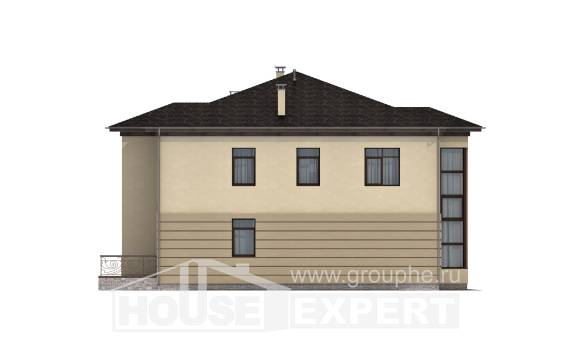 300-006-R Two Story House Plans with garage under, cozy Planning And Design