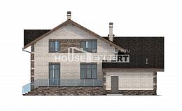 245-005-R Two Story House Plans and mansard with garage under, average Architectural Plans