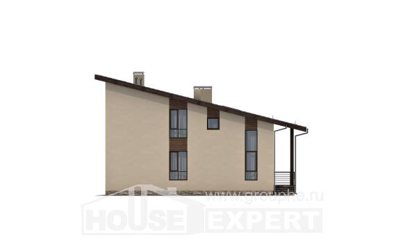 140-005-L Two Story House Plans with mansard roof, best house House Plan