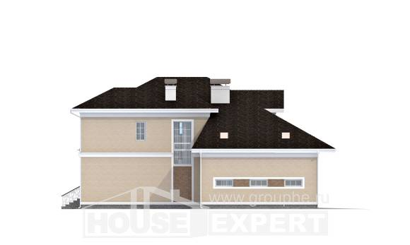 335-001-L Two Story House Plans with garage in front, best house Blueprints