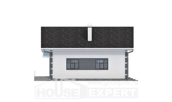 180-001-R Two Story House Plans and mansard with garage, small Villa Plan