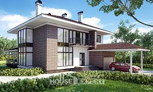 340-001-R Two Story House Plans and garage, cozy Plans To Build