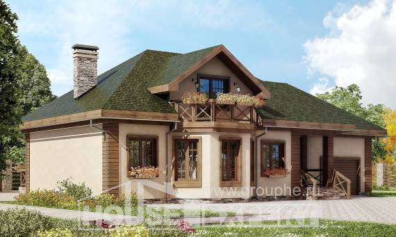 180-010-R Two Story House Plans with mansard and garage, best house House Planes