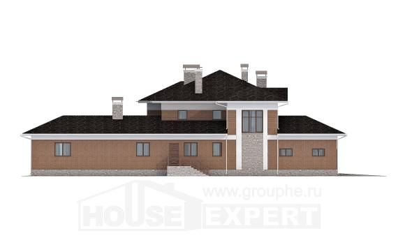 520-002-L Three Story House Plans with garage in front, big Home Plans