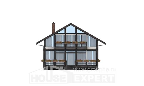 170-007-R Two Story House Plans and mansard, best house Floor Plan