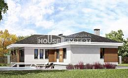 165-001-R One Story House Plans with garage, compact Architect Plans