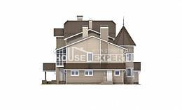 555-001-L Three Story House Plans with mansard roof with garage, best house Architect Plans