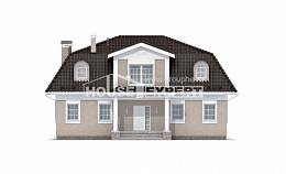 210-001-L Two Story House Plans with mansard roof, a simple Architects House