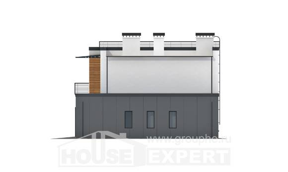 260-002-R Two Story House Plans with garage under, spacious Building Plan