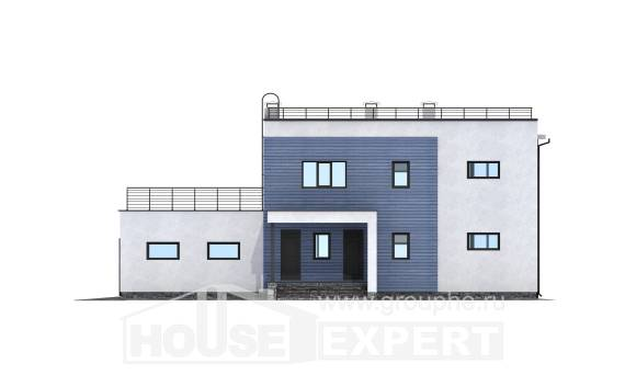 180-012-L Two Story House Plans with garage in back, cozy Plans To Build