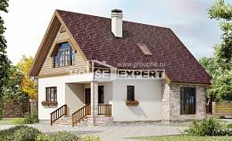 140-001-R Two Story House Plans with mansard, the budget Plans To Build