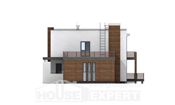 220-003-R Two Story House Plans with garage in front, a simple Online Floor