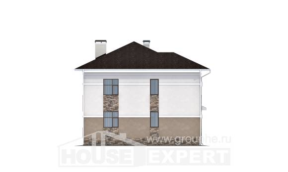 150-014-R Two Story House Plans, inexpensive Home Blueprints