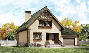 160-007-R Two Story House Plans and mansard with garage in back, available Architects House