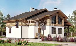 210-006-R Two Story House Plans and mansard, luxury Architects House