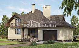 275-003-R Two Story House Plans with mansard with garage in back, luxury Blueprints