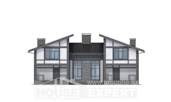 280-002-R Two Story House Plans with mansard, a huge House Online