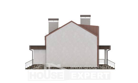 120-004-L Two Story House Plans with mansard roof, cozy Architectural Plans