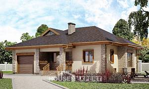 130-006-L One Story House Plans with garage in front, cozy Architectural Plans