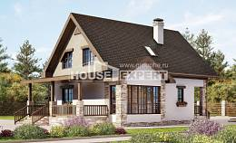 140-002-L Two Story House Plans with mansard, best house Drawing House