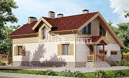 165-002-R Two Story House Plans and garage, classic Construction Plans