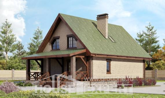160-011-R Two Story House Plans with mansard, inexpensive Plan Online