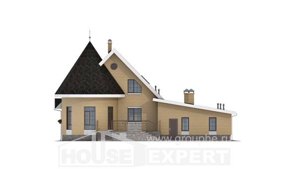 250-001-L Two Story House Plans and mansard and garage, best house Home Blueprints