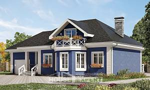 180-010-L Two Story House Plans and mansard and garage, modern Dream Plan
