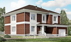 315-001-R Two Story House Plans and garage, spacious Blueprints