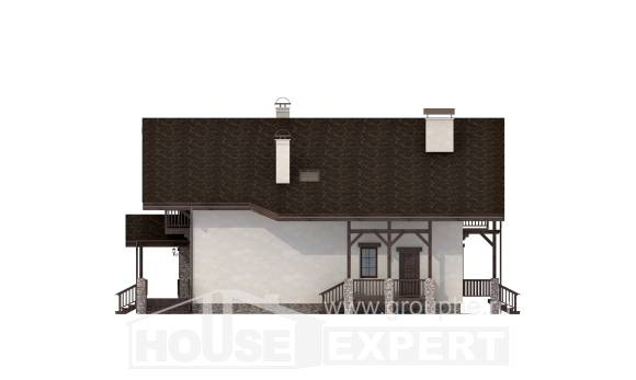 250-003-R Two Story House Plans with mansard, luxury Home Plans