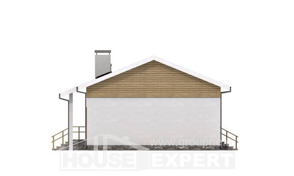 080-004-R One Story House Plans, compact Tiny House Plans