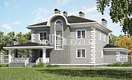 245-004-L Two Story House Plans and garage, classic Architect Plans