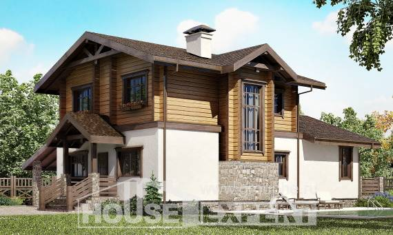 170-004-L Two Story House Plans with mansard roof with garage in back, best house Cottages Plans