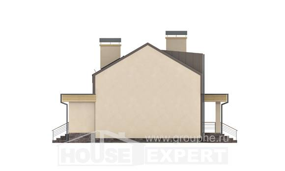 150-015-L Two Story House Plans with mansard roof and garage, beautiful Custom Home Plans Online